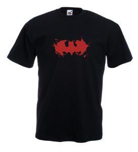 Tricou negru imprimat Batman Blood
