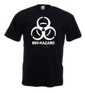 Tricou negru imprimat Bio Hazard