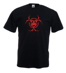 Tricou negru imprimat Bio Hazard Tribal