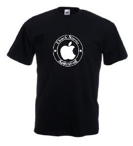 Tricou negru imprimat Chuck Norris Approved