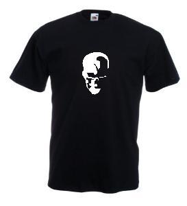 Tricou negru imprimat Craniu 2