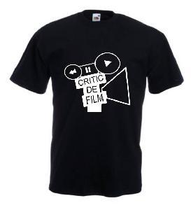 Tricou negru imprimat Critic de film