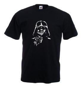 Tricou negru imprimat Darth Vader 2