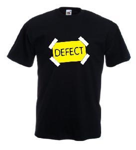 Tricou negru imprimat DEFECT