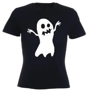 Tricou negru imprimat Ghost