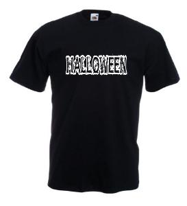 Tricou negru imprimat Halloween