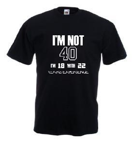 Tricou negru imprimat IM NOT 40