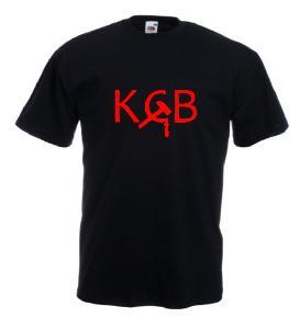 Tricou negru imprimat KGB 2