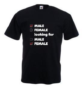 Tricou negru, imprimat Looking for
