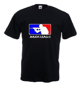 Tricou negru, imprimat Major League Airsoft