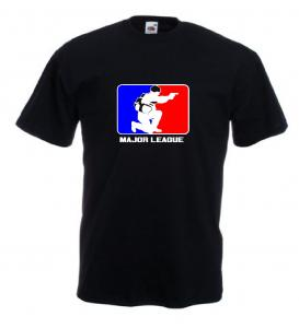 Tricou negru, imprimat Major League Airsoft 2