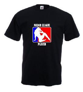 Tricou negru, imprimat Major League Player