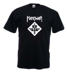 Tricou negru imprimat Manowar 1