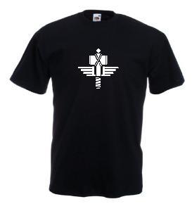 Tricou negru imprimat Manowar 2
