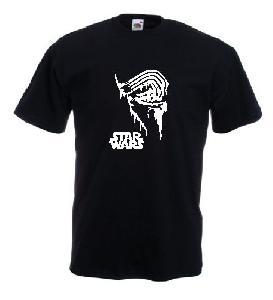 Tricou negru, imprimat Melting Kylo Ren Star Wars