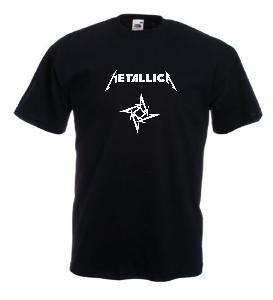 Tricou negru imprimat Metallica 2