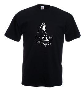 Tricou negru imprimat Michael Jackson Gone