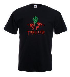 Tricou negru imprimat Michael Jackson Thriller 2
