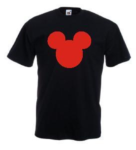 Tricou negru imprimat Mickey