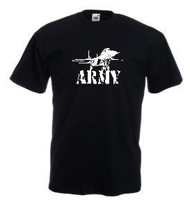 Tricou negru imprimat MIG