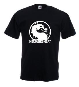 Tricou negru imprimat Mortal Kombat