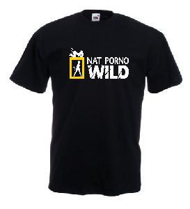 Tricou negru, imprimat Nat Geo Wild