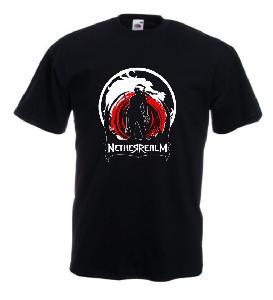 Tricou negru imprimat Netherrealm