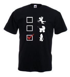 Tricou negru imprimat Option 2