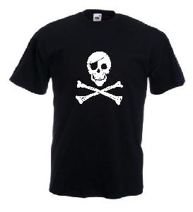Tricou negru imprimat Pirate new