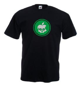 Tricou negru imprimat Poison Apple