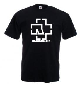 Tricou negru imprimat Rammstein