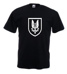 Tricou negru imprimat S.A.S. 2