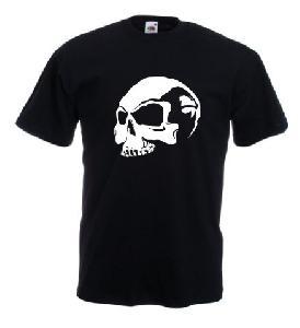 Tricou negru imprimat Skull