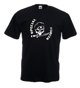 Tricou negru imprimat Special Forces 2