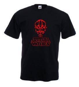 Tricou negru imprimat Star Wars Darth Maul