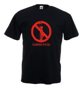 Tricou negru imprimat Stationarea Interzisa