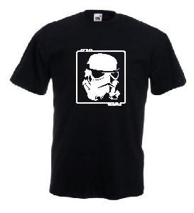 Tricou negru, imprimat Storm-Trooper