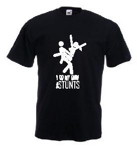 Tricou negru, imprimat Stunt 2