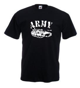 Tricou negru imprimat Tank