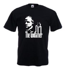 Tricou negru imprimat The Godfather