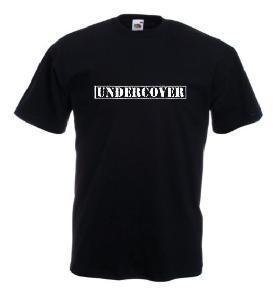 Tricou negru imprimat Undercover