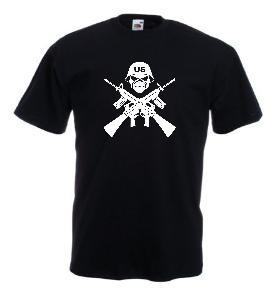 Tricou negru imprimat US