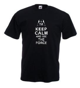 Tricou negru imprimat Use the Force