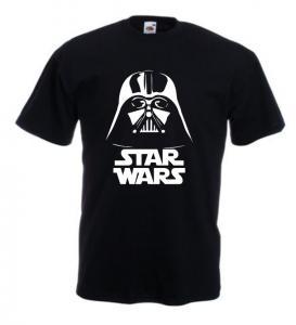 Tricou negru imprimat Vader SW