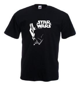 Tricou negru imprimat Vader SW 2