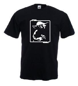 Tricou negru, imprimat Yoda SW 3