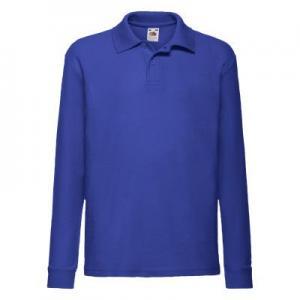 Tricou Polo 65/35 Maneca Lunga Copii, Albastru