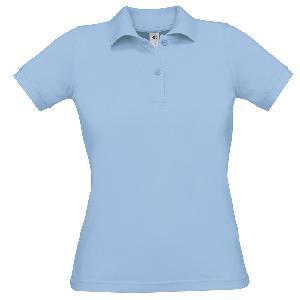 Tricou Polo Dama, B&C Heavymill, Bleu