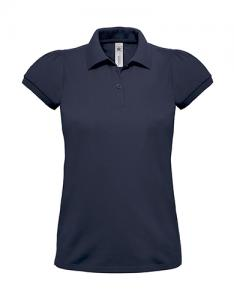 Tricou Polo Dama, B&C Heavymill, Bleumarin