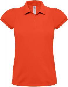 Tricou Polo Dama, B&C Heavymill, Orange